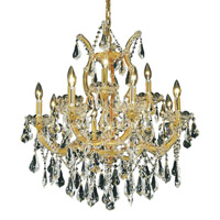 Elegant Lighting 2801D27G/SS Maria Theresa 13 Light 27 inch Gold Dining Chandelier Ceiling Light in Clear, Swarovski Strass alternative photo thumbnail