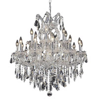 Elegant Lighting 2801D30C/RC Maria Theresa 19 Light 30 inch Chrome Dining Chandelier Ceiling Light in Clear, Royal Cut alternative photo thumbnail