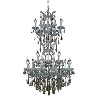 Elegant Lighting Maria Theresa 25 Light Dining Chandelier in Silver and Clear Mirror with Swarovski Strass Golden Teak Crystal 2801D30SC-GT/SS alternative photo thumbnail