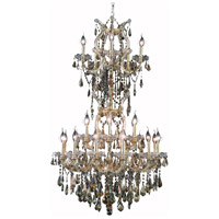 Elegant Lighting Maria Theresa 25 Light Dining Chandelier in Gold with Swarovski Strass Golden Teak Crystal 2801D30SG-GT/SS