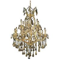 Elegant Lighting 2801D32G-GT/RC Maria Theresa 19 Light 32 inch Gold Dining Chandelier Ceiling Light in Golden Teak Royal Cut