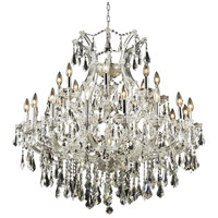 Elegant Lighting Maria Theresa 24 Light Dining Chandelier in Chrome with Royal Cut Clear Crystal 2801D36C/RC