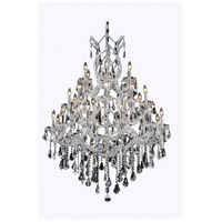 Elegant Lighting Maria Theresa 28 Light Dining Chandelier in Chrome with Swarovski Strass Clear Crystal 2801D38C/SS alternative photo thumbnail
