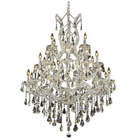 Elegant Lighting Maria Theresa 28 Light Dining Chandelier in Chrome with Royal Cut Clear Crystal 2801D38C/RC