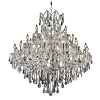 Elegant Lighting Maria Theresa 37 Light Foyer in Chrome with Swarovski Strass Clear Crystal 2801G44C/SS
