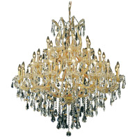 Elegant Lighting Maria Theresa 37 Light Foyer in Gold with Swarovski Strass Clear Crystal 2801G44G/SS