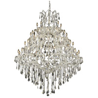 Elegant Lighting Maria Theresa 49 Light Foyer in Chrome with Swarovski Strass Clear Crystal 2801G46C/SS
