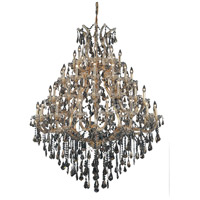Elegant Lighting Maria Theresa 49 Light Foyer in Gold with Swarovski Strass Golden Teak Crystal 2801G46G-GT/SS