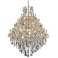 Elegant Lighting Maria Theresa 49 Light Foyer in Gold with Swarovski Strass Clear Crystal 2801G46G/SS