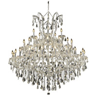 Elegant Lighting Maria Theresa 41 Light Foyer in Chrome with Swarovski Strass Clear Crystal 2801G52C/SS
