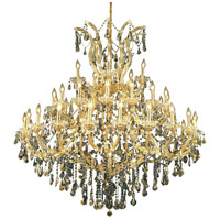 Elegant Lighting Maria Theresa 41 Light Foyer in Gold with Royal Cut Golden Teak Crystal 2801G52G-GT/RC