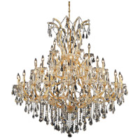 Elegant Lighting Maria Theresa 41 Light Foyer in Gold with Swarovski Strass Clear Crystal 2801G52G/SS
