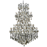 Elegant Lighting Maria Theresa 61 Light Foyer in Chrome with Swarovski Strass Golden Teak Crystal 2801G54C-GT/SS
