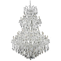 Elegant Lighting Maria Theresa 61 Light Foyer in Chrome with Royal Cut Clear Crystal 2801G54C/RC