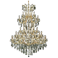 Elegant Lighting Maria Theresa 61 Light Foyer in Gold with Royal Cut Golden Teak Crystal 2801G54G-GT/RC