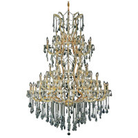 Elegant Lighting 2801G54G/SS Maria Theresa 61 Light 54 inch Gold Foyer Ceiling Light in Clear Swarovski Strass