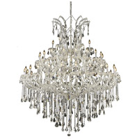 Maria Theresa 49 Light 60 inch Chrome Foyer Ceiling Light in Clear, Royal Cut