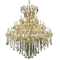 Elegant Lighting Maria Theresa 49 Light Foyer in Gold with Royal Cut Golden Teak Crystal 2801G60G-GT/RC