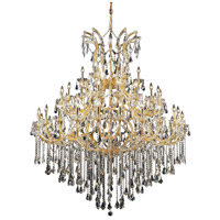 Elegant Lighting Maria Theresa 49 Light Foyer in Gold with Swarovski Strass Clear Crystal 2801G60G/SS