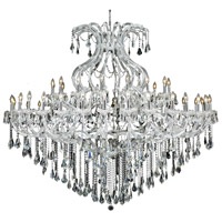 Elegant Lighting Maria Theresa 49 Light Foyer in Chrome with Swarovski Strass Clear Crystal 2801G72C/SS