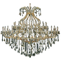 Elegant Lighting Maria Theresa 49 Light Foyer in Gold with Royal Cut Golden Teak Crystal 2801G72G-GT/RC