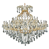 Elegant Lighting Maria Theresa 49 Light Foyer in Gold with Swarovski Strass Clear Crystal 2801G72G/SS