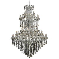Elegant Lighting Maria Theresa 85 Light Foyer in Chrome with Royal Cut Golden Teak Crystal 2801G96C-GT/RC
