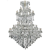 Elegant Lighting Maria Theresa 85 Light Foyer in Chrome with Royal Cut Clear Crystal 2801G96C/RC