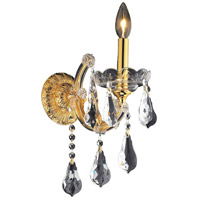 Elegant Lighting Maria Theresa 1 Light Wall Sconce in Gold with Royal Cut Clear Crystal 2801W1G/RC