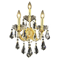 Elegant Lighting Maria Theresa 3 Light Wall Sconce in Gold with Swarovski Strass Clear Crystal 2801W3G/SS alternative photo thumbnail