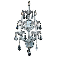 Elegant Lighting Maria Theresa 5 Light Wall Sconce in Chrome with Royal Cut Clear Crystal 2801W5C/RC