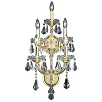 Elegant Lighting Maria Theresa 5 Light Wall Sconce in Gold with Swarovski Strass Clear Crystal 2801W5G/SS
