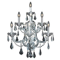 Elegant Lighting 2801W7C/RC Maria Theresa 7 Light 22 inch Chrome Wall Sconce Wall Light in Clear, Royal Cut alternative photo thumbnail