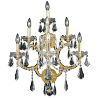 Elegant Lighting Maria Theresa 7 Light Wall Sconce in Gold with Swarovski Strass Clear Crystal 2801W7G/SS