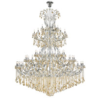 Elegant Lighting 2803G120C-GS/RC Maria Theresa 84 Light 96 inch Chrome Chandelier Ceiling Light