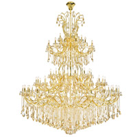 Elegant Lighting 2803G120G-GS/RC Maria Theresa 84 Light 96 inch Gold Chandelier Ceiling Light