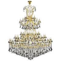 Elegant Lighting 2803G120G-SS/RC Maria Theresa 84 Light 96 inch Gold Chandelier Ceiling Light