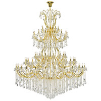 Elegant Lighting 2803G120G/EC Maria Theresa 84 Light 96 inch Gold Chandelier Ceiling Light