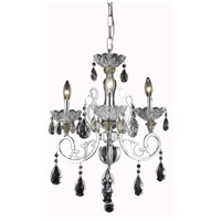 Elegant Lighting Aria 3 Light Dining Chandelier in Chrome with Elegant Cut Clear Crystal 2830D19C/EC