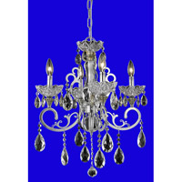 Elegant Lighting Aria 4 Light Dining Chandelier in Chrome with Spectra Swarovski Clear Crystal 2830D20C/SA alternative photo thumbnail