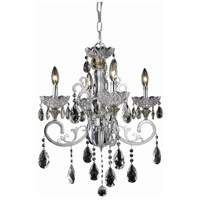 Elegant Lighting Aria 4 Light Dining Chandelier in Chrome with Elegant Cut Clear Crystal 2830D20C/EC