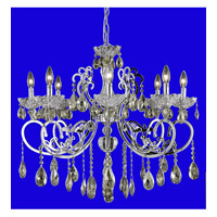 Elegant Lighting Aria 8 Light Dining Chandelier in Chrome with Swarovski Strass Golden Teak Crystal 2830D29C-GT/SS alternative photo thumbnail