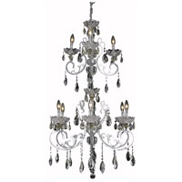 Aria 9 Light 26 inch Chrome Foyer Ceiling Light in Clear, Elegant Cut