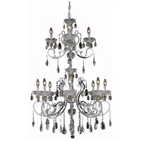 Elegant Lighting Aria 12 Light Foyer in Chrome with Swarovski Strass Clear Crystal 2830G48C/SS