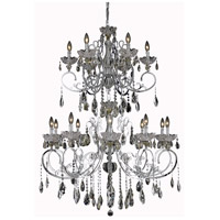 Elegant Lighting Aria 16 Light Foyer in Chrome with Swarovski Strass Clear Crystal 2830G52C/SS