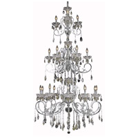 Elegant Lighting Aria 19 Light Foyer in Chrome with Elegant Cut Clear Crystal 2830G80C/EC