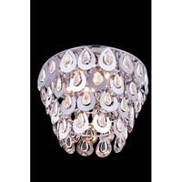 Elegant Lighting Sophia 4 Light Flush Mount in Chrome with Royal Cut Clear Crystal 2903F16C/RC