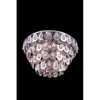 Elegant Lighting Sophia 8 Light Flush Mount in Chrome with Royal Cut Clear Crystal 2903F24C/RC