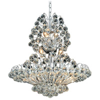 Elegant Lighting Sirius 14 Light Dining Chandelier in Chrome with Elegant Cut Clear Crystal 2908D24C/EC