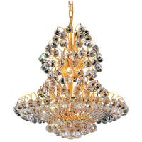 Elegant Lighting V2908D24G/EC Sirius 14 Light 24 inch Gold Dining Chandelier Ceiling Light in Elegant Cut
